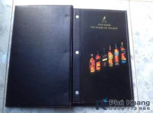 sản xuất bìa menu bắt vít